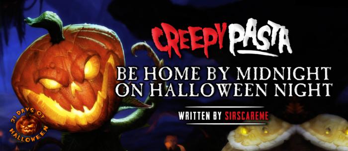 Estar en casa a medianoche en la noche de Halloween